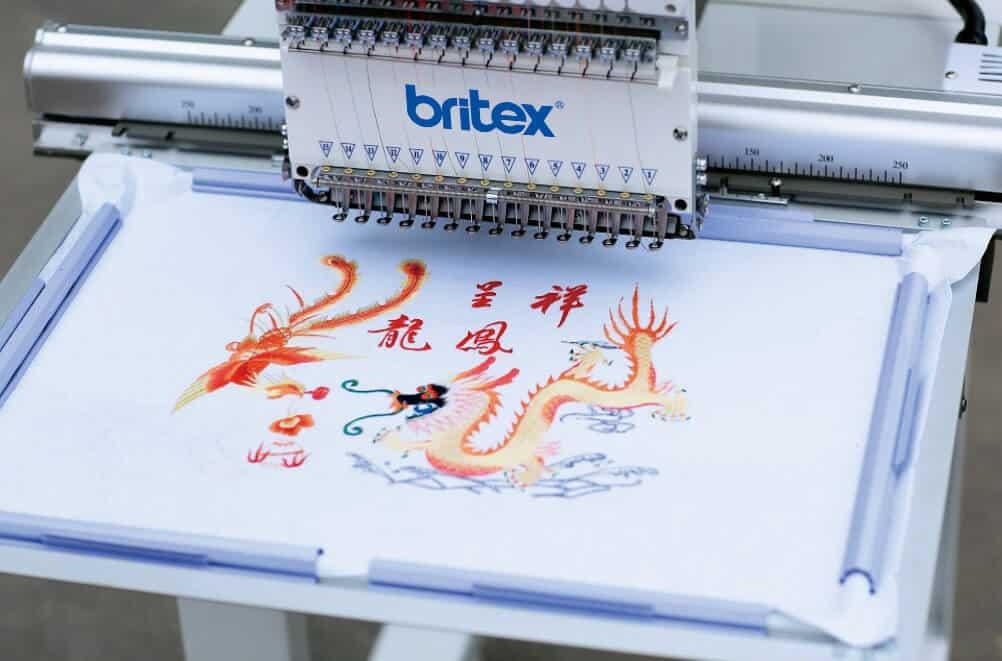 Промышленная вышивальная машина Britex BR-1501L поле вышивки 1200×500 мм