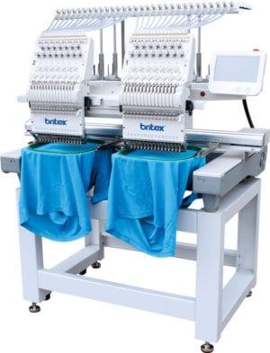 Промышленная двухголовая 15-игольная вышивальная машина Britex BR-1502C