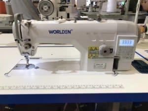 Прямострочная промышленная машина с прямым сервоприводом и автоматикой, легкие и средние ткани Worlden WD-9910-D4 на 5 мм