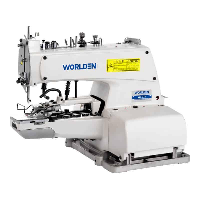 Пуговичная промышленная швейная машина Worlden WD-373 с приспособлением пришивания пуговицы на ножке