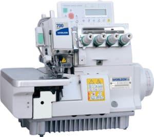 Оверлок промышленный четырехниточный с прямым сервоприводом и автоматикой Worlden WD-700-4D