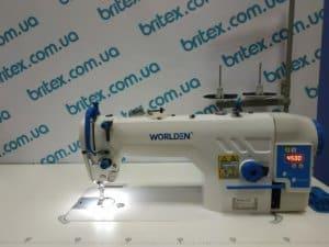Прямострочная промышленная машина с прямым приводом и обрезкой нити, легкие и средние ткани Worlden WD-9990DA на 5 мм