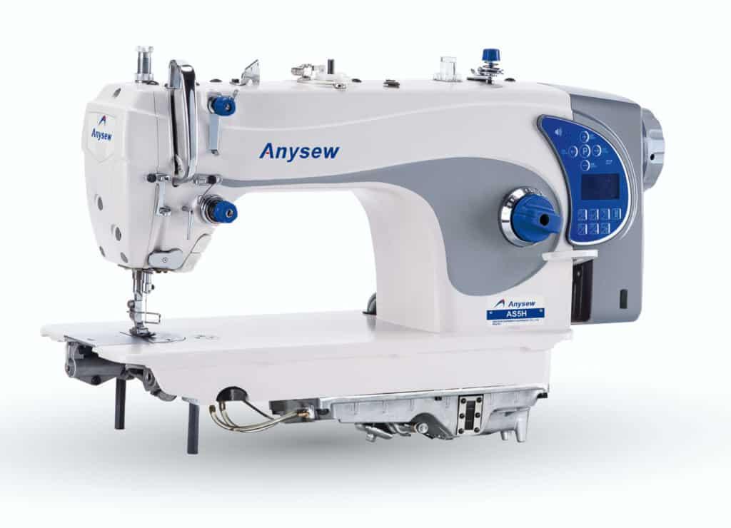 Прямострочная промышленная швейная машина с прямым сервоприводом, сухим поддоном и автоматикой Anysew AS-5 на 5 мм