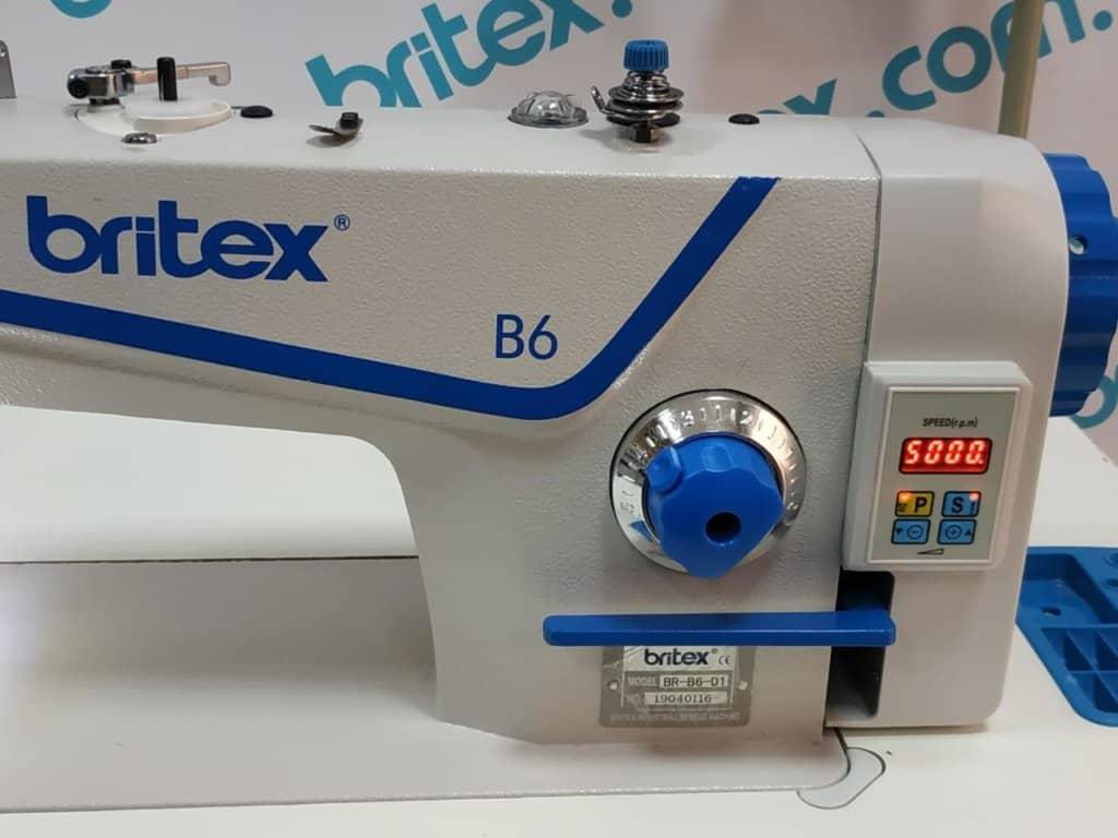 Прямострочная промышленная швейная машина с прямым сервоприводом, легкие и средние ткани Britex-B6 на 5 мм