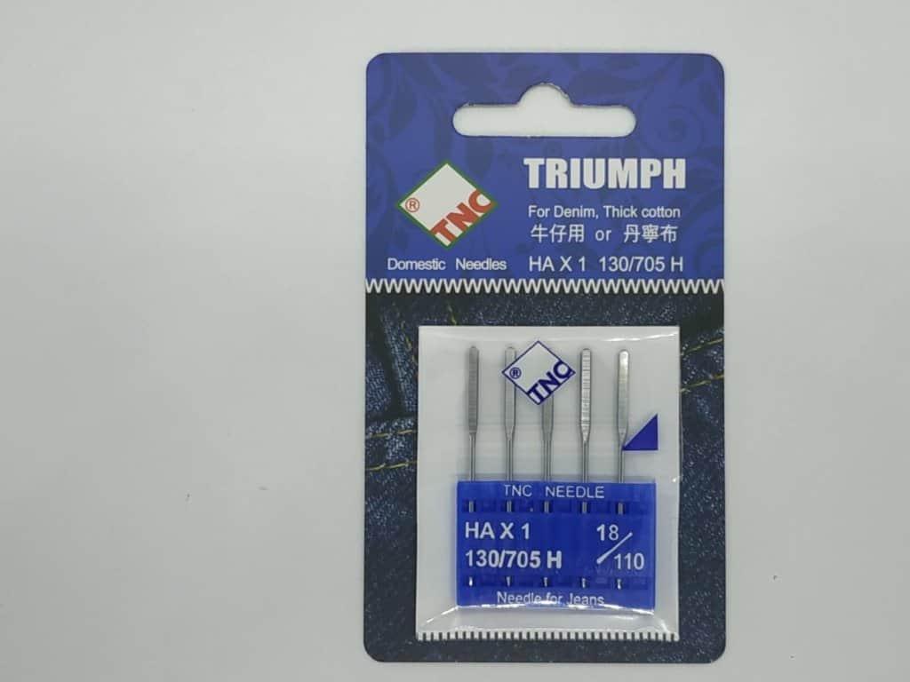 Иглы для бытовых машин для джинса и плотных тканей TNC HA*1 130/705 H 18/110