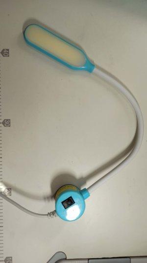Светильник с гибкой шеей на магните (6W)-голубой