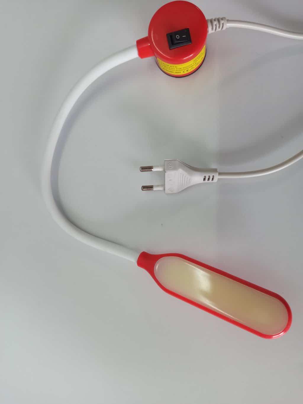 Светильник с гибкой шеей на магните для швейных машин(6W) -красный