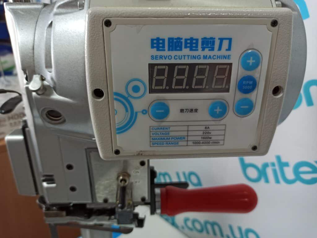 Вертикальный раскройный сервонож BRITEX BR-3E 8″ 1600W